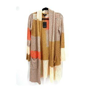 Fate Color Block Duster Cardigan NWT